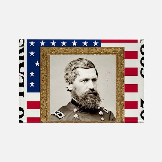 Oliver O. Howard - Gettysburg Rectangle Magnet