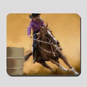 barrel racing pillow Mousepad