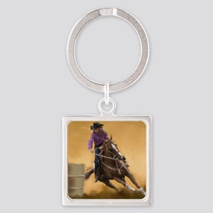 barrel racing pillow Square Keychain
