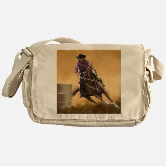 barrel racing pillow Messenger Bag
