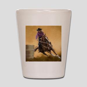 barrel racing pillow Shot Glass