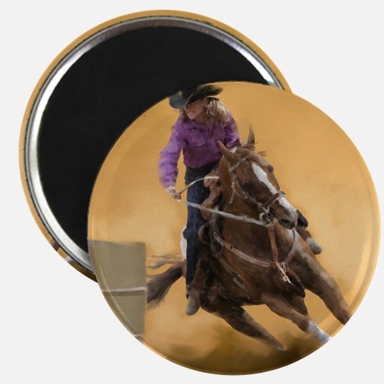 barrel racing pillow Magnet