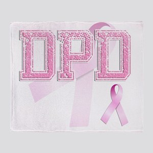 DPD initials, Pink Ribbon, Throw Blanket