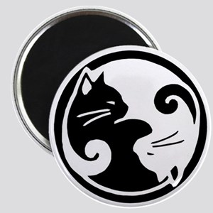 Yin Yang Cat Pet Tag Magnet