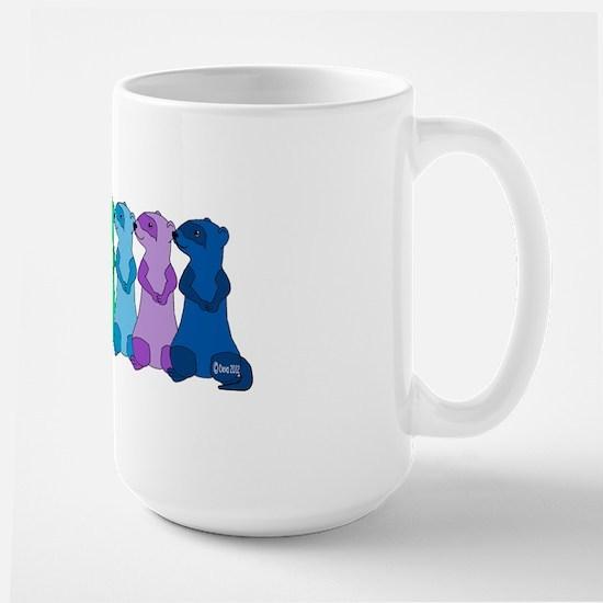 Rainbow Ferrets 3 Large Mug