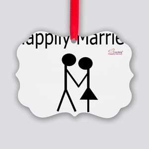 Happily Married Picture Ornament