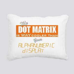 Dot Matrix vs Alphanumer Rectangular Canvas Pillow