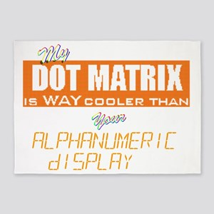 Dot Matrix vs Alphanumeric Digital  5'x7'Area Rug