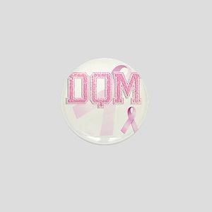 DQM initials, Pink Ribbon, Mini Button