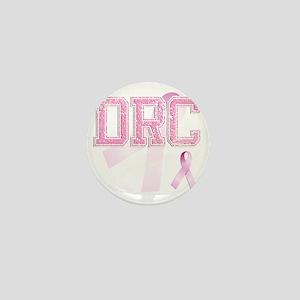 DRC initials, Pink Ribbon, Mini Button