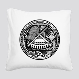 American Samoa Coat of Arms Square Canvas Pillow