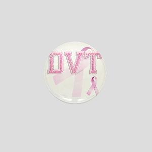 DVT initials, Pink Ribbon, Mini Button