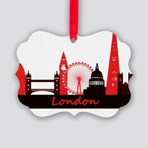 London landmarks tee 3cp Picture Ornament