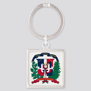 Dominican   Coat of Arms Square Keychain