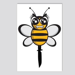 bee knife-stinger Postcards (Package of 8)