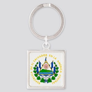 El Salvador  Coat of Arms Square Keychain