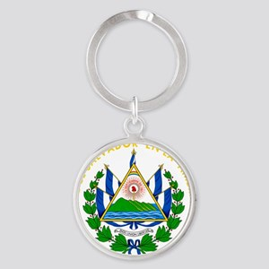 El Salvador  Coat of Arms Round Keychain