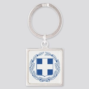 Greece  Coat of Arms Square Keychain