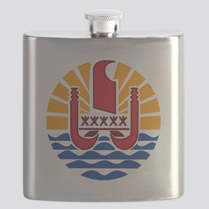 French Polynesia  Coat of Arms Flask