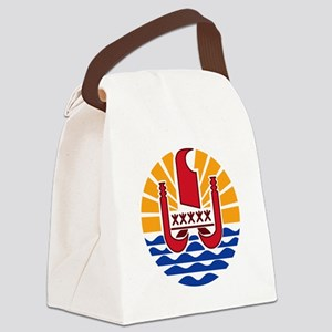 French Polynesia  Coat of Arms Canvas Lunch Bag