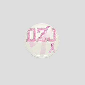 DZJ initials, Pink Ribbon, Mini Button