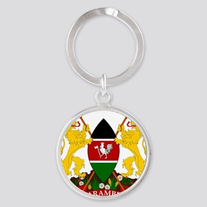 Kenya  Coat of Arms Round Keychain