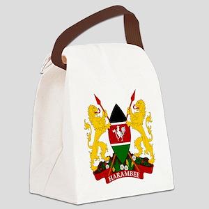 Kenya  Coat of Arms Canvas Lunch Bag