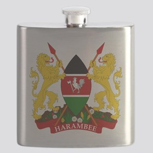 Kenya  Coat of Arms Flask