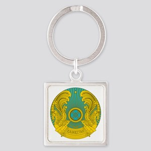 Kazakhstan  Coat of Arms Square Keychain