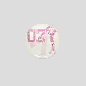 DZY initials, Pink Ribbon, Mini Button
