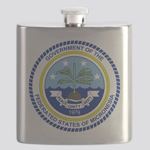 Micronesia  Coat of Arms Flask