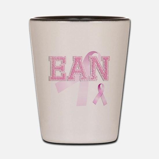 EAN initials, Pink Ribbon, Shot Glass