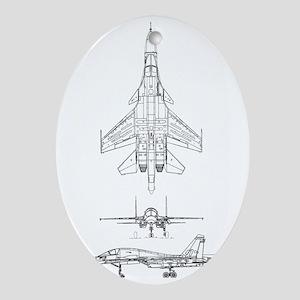 SU-34 3 View Oval Ornament
