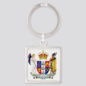 New Zealand  Coat of Arms Square Keychain