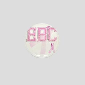 EBC initials, Pink Ribbon, Mini Button