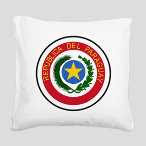 Paraguay  Coat of Arms Square Canvas Pillow