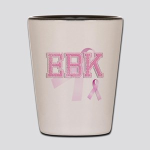 EBK initials, Pink Ribbon, Shot Glass