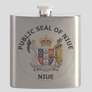 Niue  Coat of Arms Flask