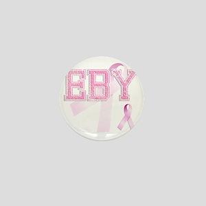 EBY initials, Pink Ribbon, Mini Button