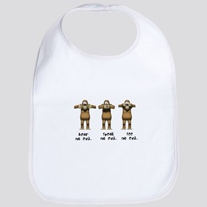 Hear No Evil Monkeys Bib