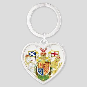 Royal Scotland  Coat of Arms Heart Keychain