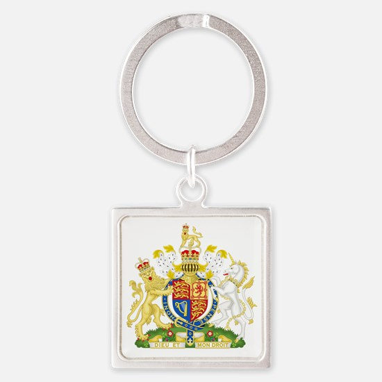 Royal United Kingdom  Coat of Arms Square Keychain