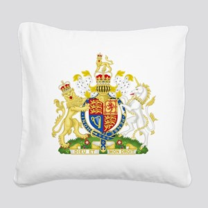 Royal United Kingdom  Coat of Square Canvas Pillow