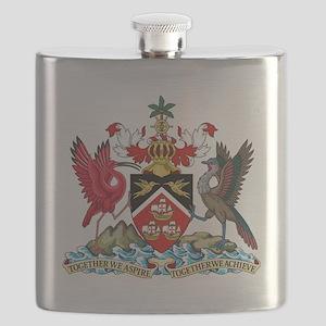 Trinidadand Tobago  Coat of Arms Flask