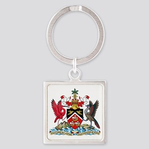 Trinidadand Tobago  Coat of Arms Square Keychain