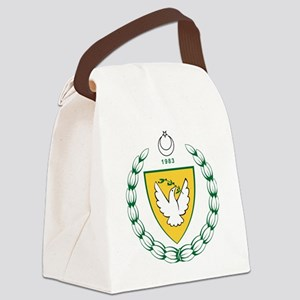 Turkish  Northern Cyprus  Coat of Canvas Lunch Bag