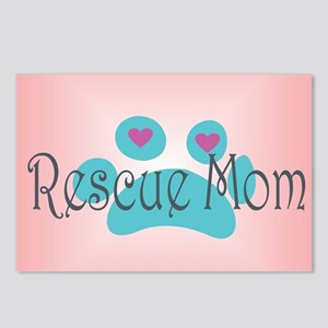 Rescue Mom with hearts an Postcards (Package of 8)