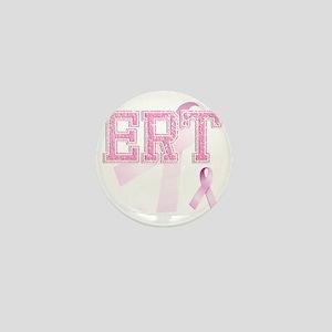 ERT initials, Pink Ribbon, Mini Button