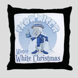 SnowMiser_MisterWhiteChristmas Throw Pillow