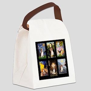 T-Beagle Famous Art Comp Canvas Lunch Bag